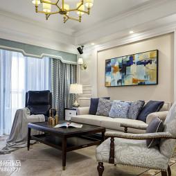 美式四居室客厅装修