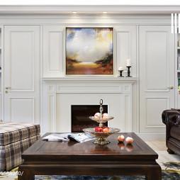 美式风格白色壁炉装修
