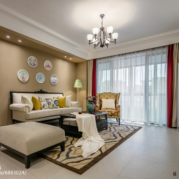美式风格优雅客厅装修