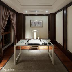 中式样板房书房设计