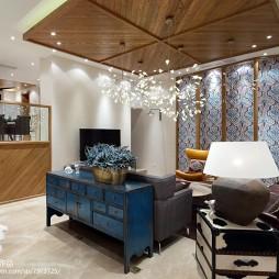 现代风格别墅客厅吊顶装修