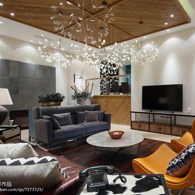 现代风格别墅客厅装修案例图