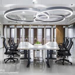 绿色人文办公空间会议室设计