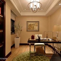 家居中式风格样板房书房装修