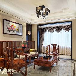 雅致新中式风格客厅装修