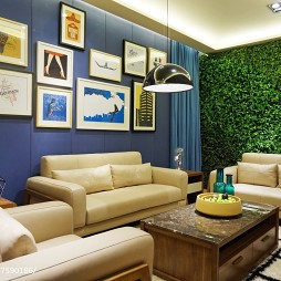 家具工厂展厅照片墙设计