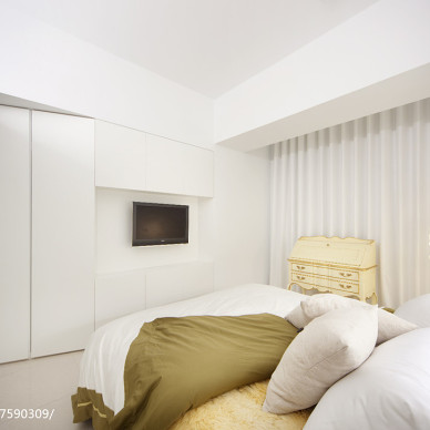 白色简约风格卧室设计