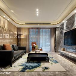现代风格客厅布置