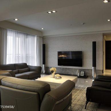 现代风格三居室客厅设计大全