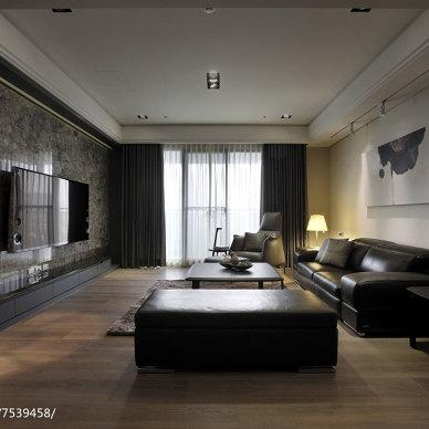 温馨现代风格三居室布置