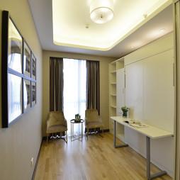 简欧风格白色书房设计