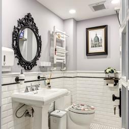 自然美式二居室卫浴装修
