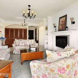 浪漫美式风格客厅效果图
