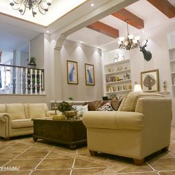 美式别墅休闲区装饰图