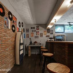美式地下室吧台设计