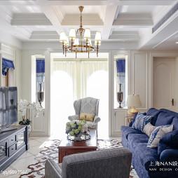 清新美式别墅客厅装修