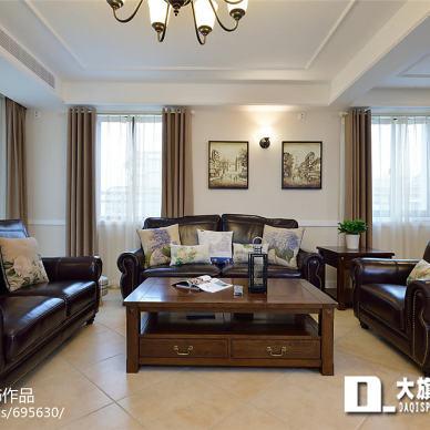 家居美式客厅效果图