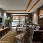 多彩LOFT风格客厅设计