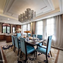 欧式豪华别墅餐厅设计