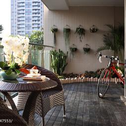 清新中式风格阳台设计