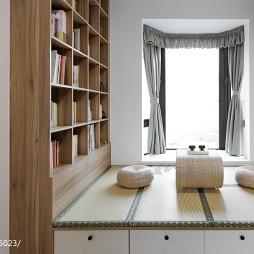清新北欧风格榻榻米书房设计