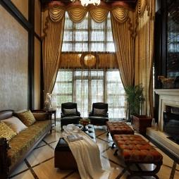 复古欧式风格客厅效果图