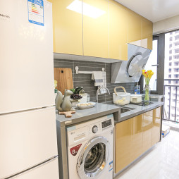 厨房放洗衣机