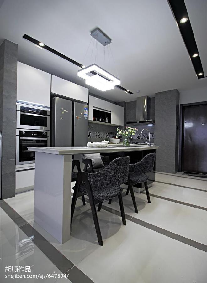 黑白调现代风格吧台设计