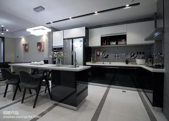 黑白调现代风格厨房设计