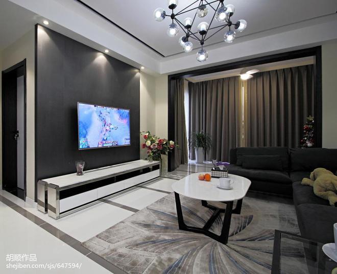黑白调现代风格背景墙设计