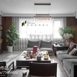 自然现代风格别墅客厅装修