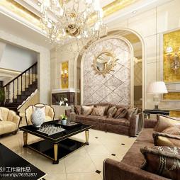 金色简欧风格客厅效果图