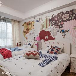 现代风格儿童房创意背景墙设计
