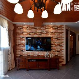 美式风格仿古砖背景墙设计