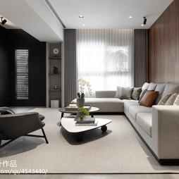 最新简约风格三居室客厅装修