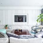 中式风格四居室背景墙设计