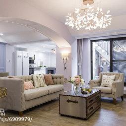 混搭风格客厅拱洞造型设计