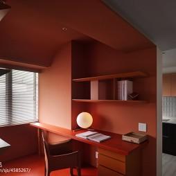 简约风格开放式书房设计