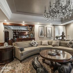 美式别墅精美客厅装修