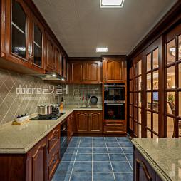 美式厨房实木家具设计