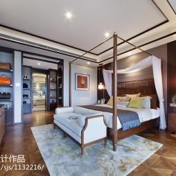 沉稳东南亚卧室装修