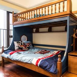 现代风格上下床儿童房装修