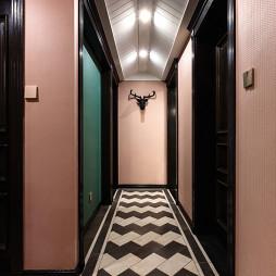 美式过道马赛克地板设计