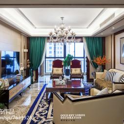 大气新古典风格客厅设计
