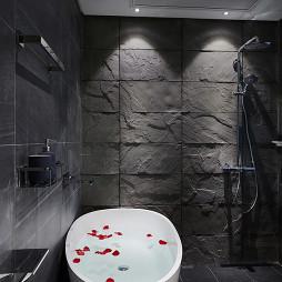 暗黑现代风格浴缸装修