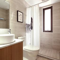 北歐風格衛浴浴簾設計