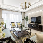 优雅美式客厅效果图