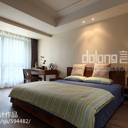 宽敞中式卧室装修