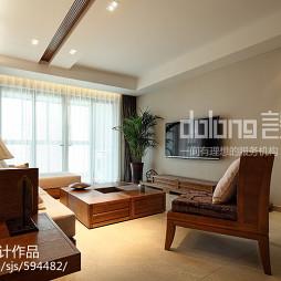 中式三居室客厅设计