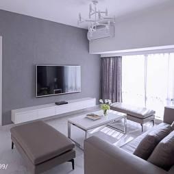 白灰简约风格客厅设计
